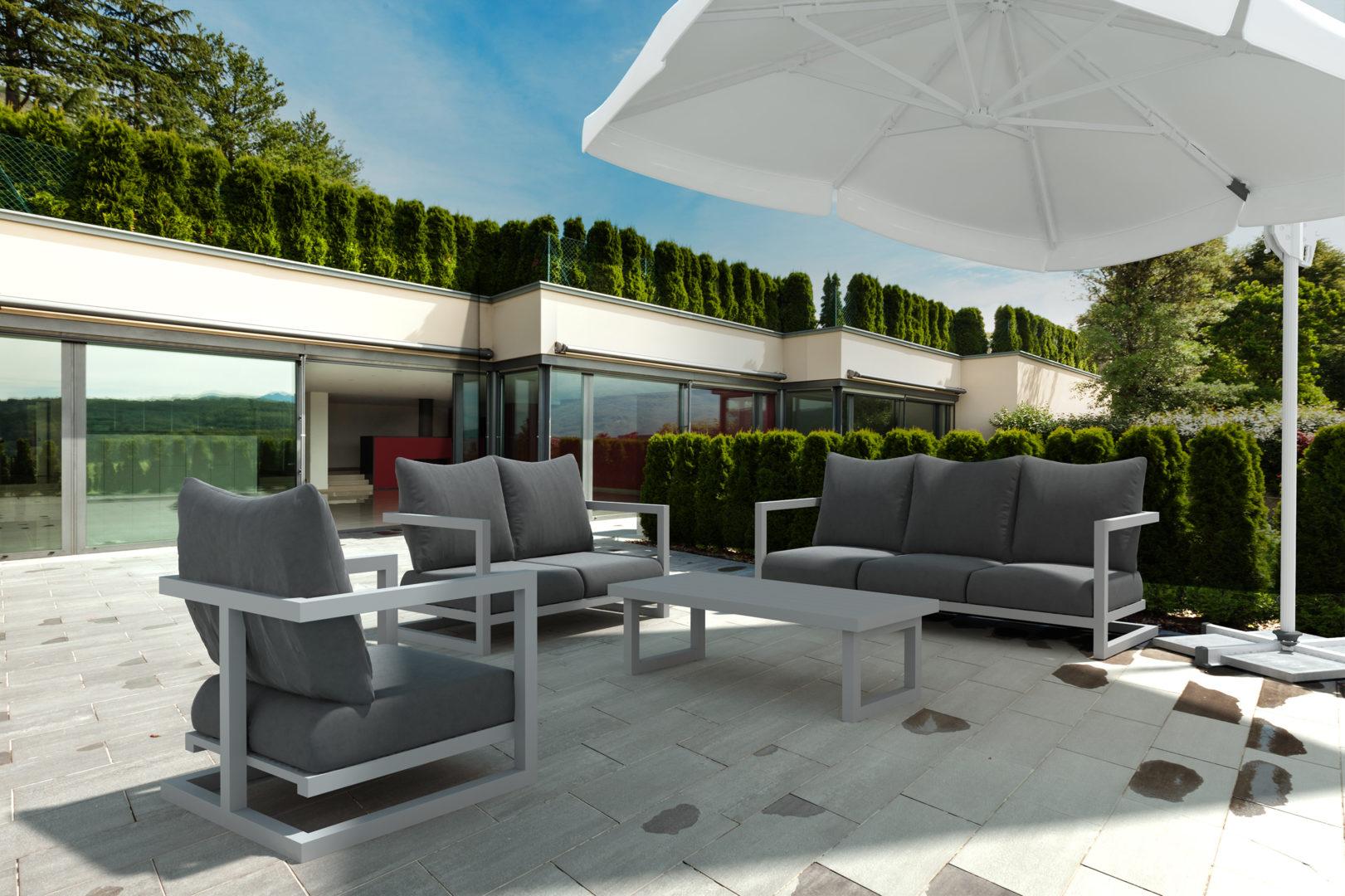 wizualizacja meble ogrodowe